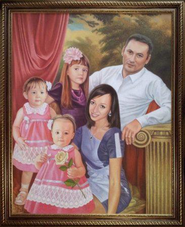 Семейный портрет маслом в Душанбе — правильная традиция…