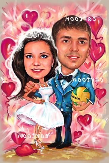 Свадебный шарж с оригинальным сюжетом в Душанбе!