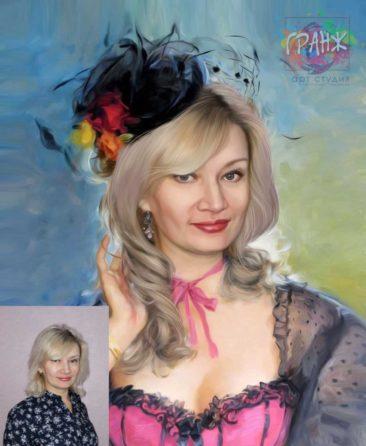 Заказать арт портрет по фото на холсте в Душанбе