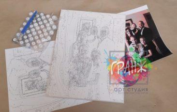 Картина по номерам по фото, портреты на холсте и дереве в Душанбе